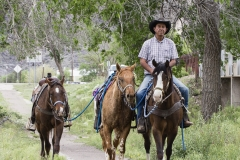 Mr. Martinez and his roping horses, Fort Davis, Texas.
