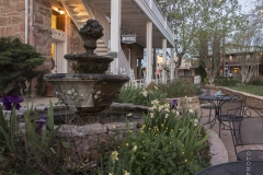 The historic Hotel Limpia courtyard in Fort Davis, Texas.