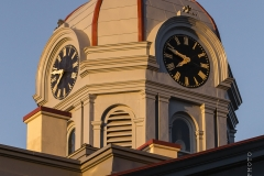 The Jeff Davis County, Texas, clock tower on the courthouse.